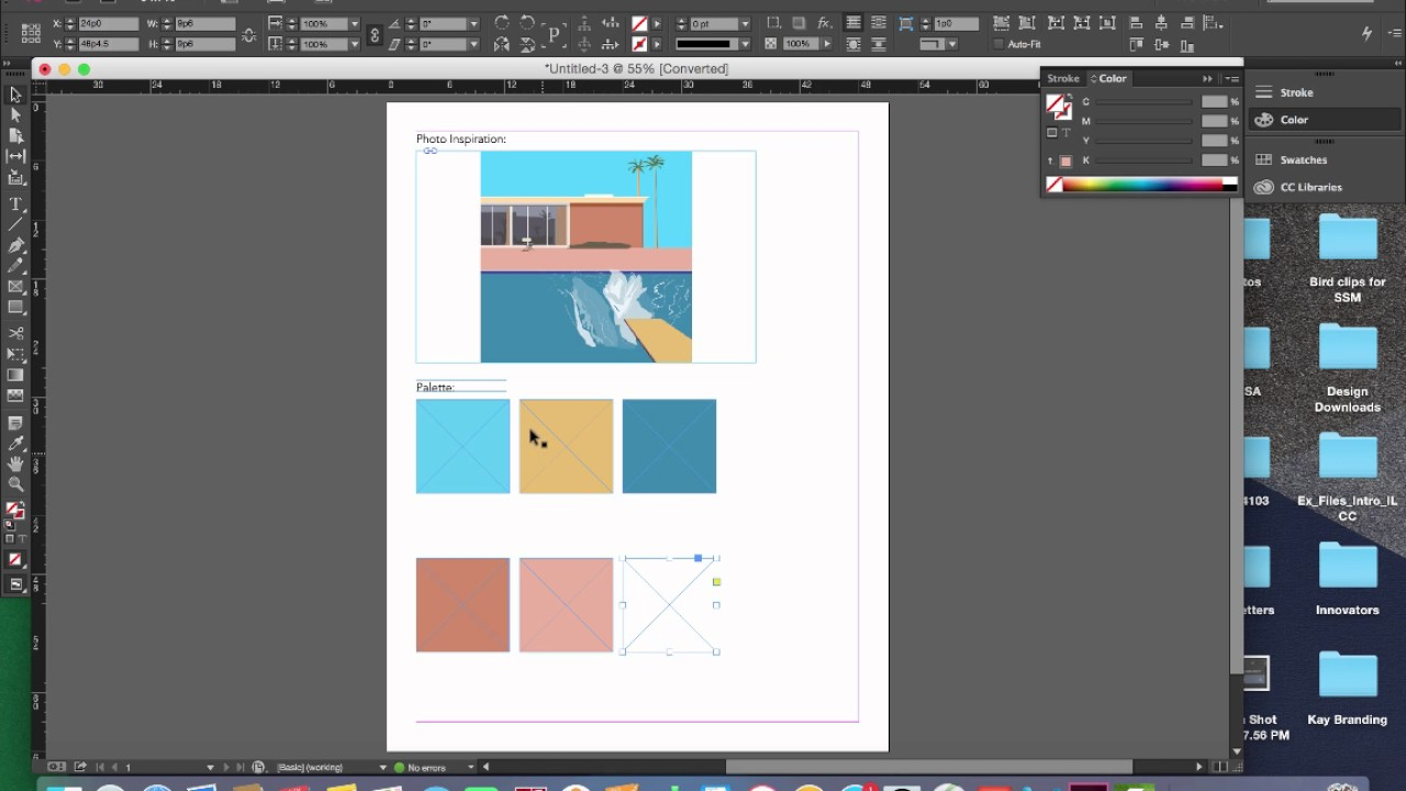 How To Create A Color Palette From A Photo In Indesign Youtube