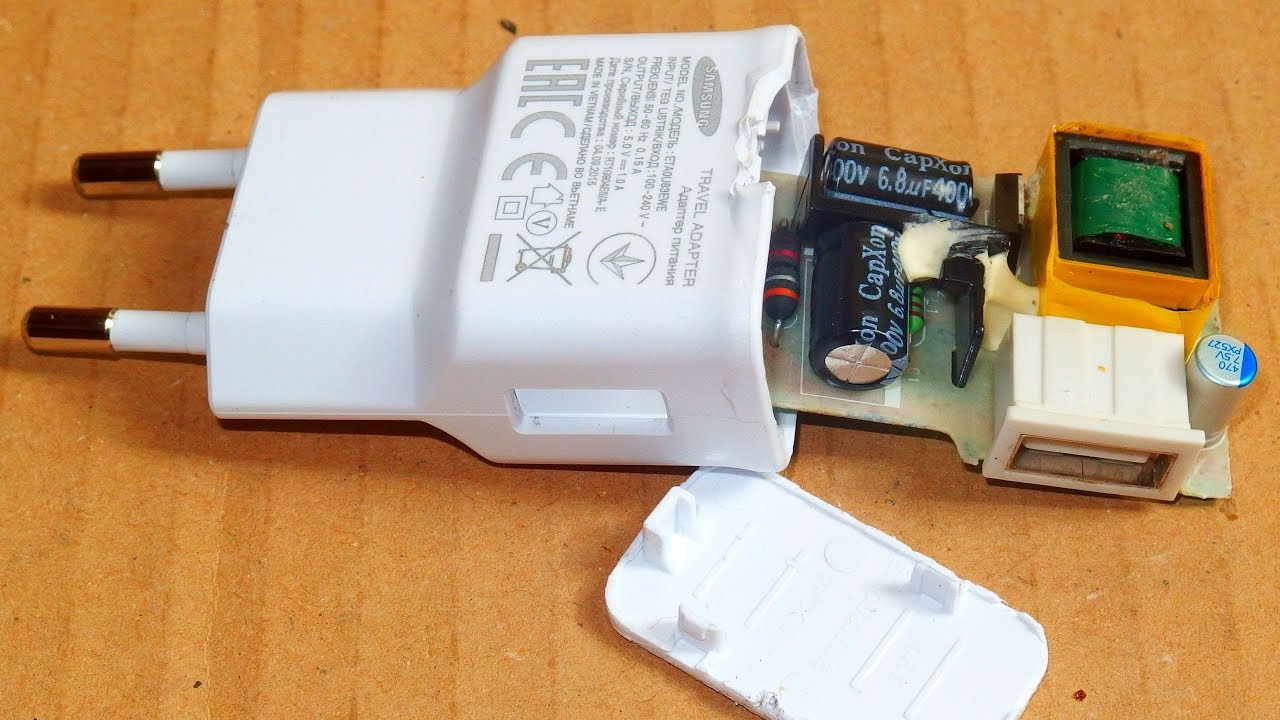 samsung usb charger failure and repair [ 1280 x 720 Pixel ]