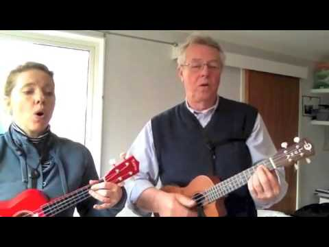 'Tonight you belong to me' on ukulele Peter and Kate Skellern