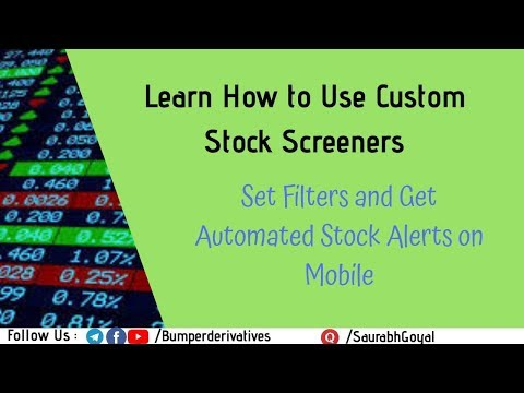 Custom Stock Screener For Automated Stock Alerts Chartink