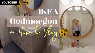 IKEA Godmorgon Bathroom Vanity Assembly Vlog | How To Put Together the IKEA Godmorgon Vanity