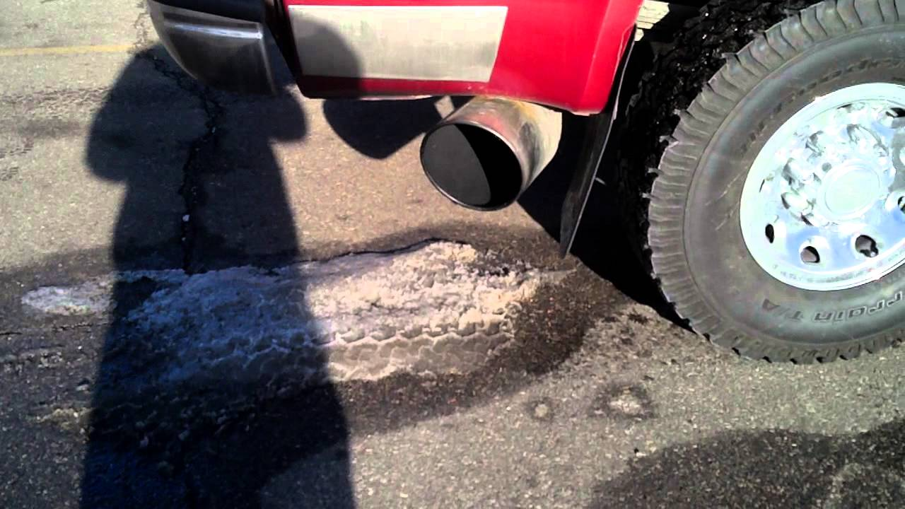ford f350 with 8inch exhaust tip youtube