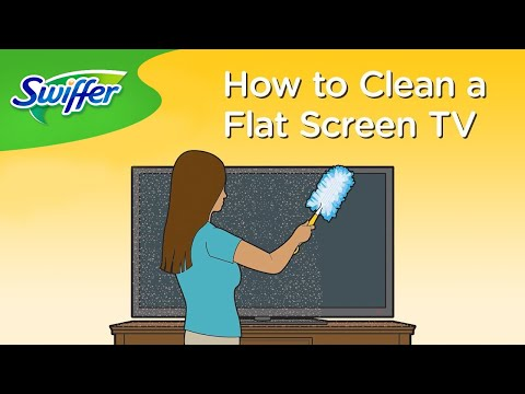 How To Clean A TV Screen With Swiffer Dusters | Swiffer