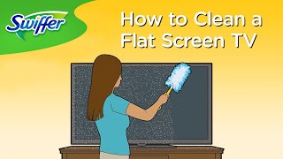How to Clean a TV Screen with Swiffer Dusters   Swiffer