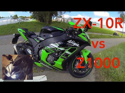 Kawasaki Ninja Zx 10r Vs Kawasaki Z1000 Vergleich Review