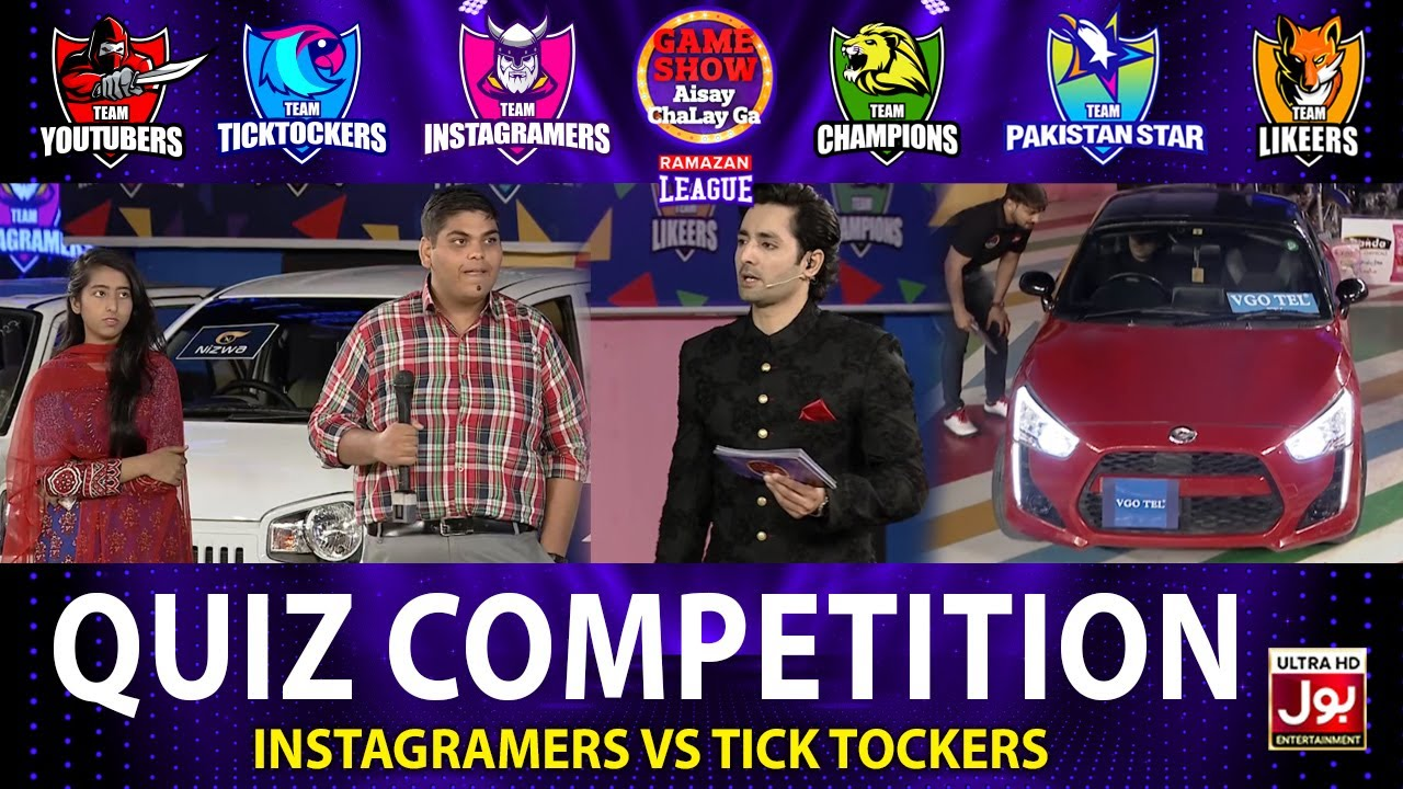Download Quiz Competition In Game Show Aisay Chalay Ga Ramazan League 2021   Instagramers VS Tick Tockers
