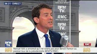France Presidential Race  Former Socialist PM Valls backs centrist Macron