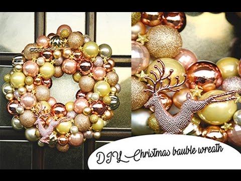 Diy bauble wreath youtube diy bauble wreath solutioingenieria Choice Image