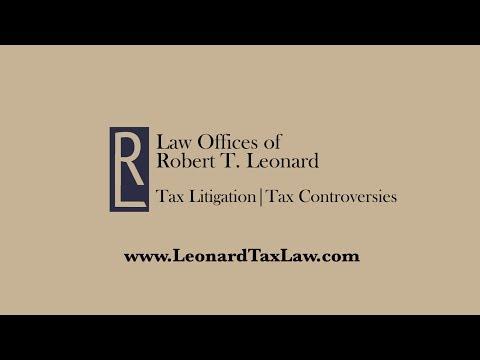 Testimonial for Tax Attorney CPA, Robert T. Leonard – Tax Preparer Harold
