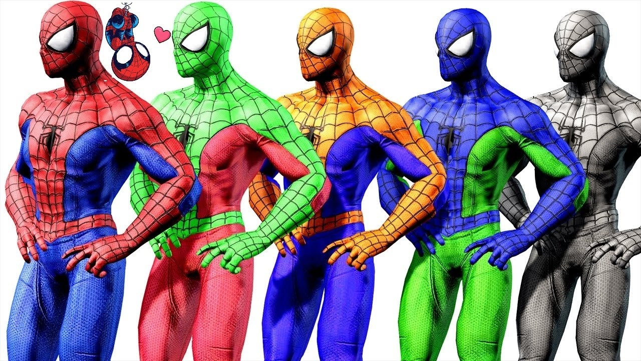 Learn Colors Spiderman Dance Cartoon For Kids Videos For Kids Youtube