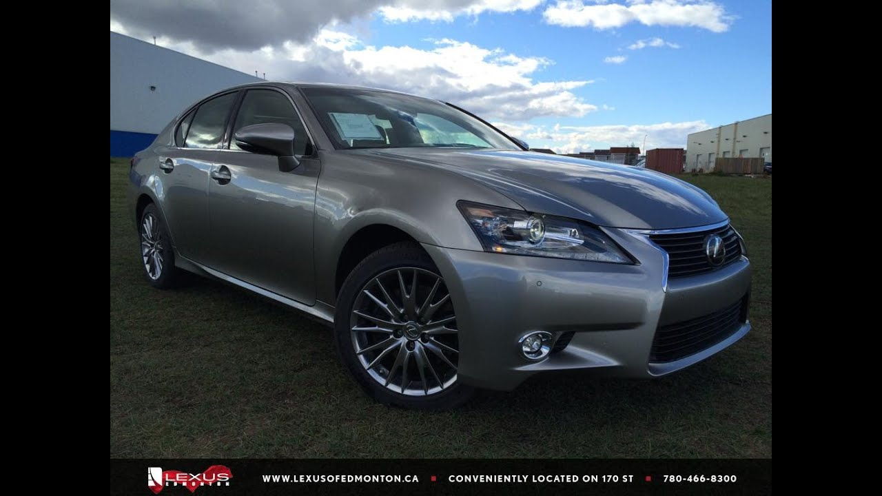 new atomic silver 2015 lexus gs 350 awd executive package review east edmonton youtube. Black Bedroom Furniture Sets. Home Design Ideas
