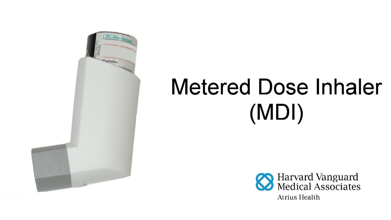 Using a Metered Dose Inhaler (MDI) - Closed Mouth Technique