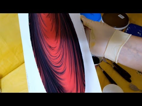 DIY Let's draw it / Acrylic painting / Pictures from liquid acrylic / Картины в технике Resin Art.