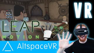 Bumbling through AltspaceVR: Virtual reality chat room for all VR HMDs [Oculus Rift + Leap Motion]