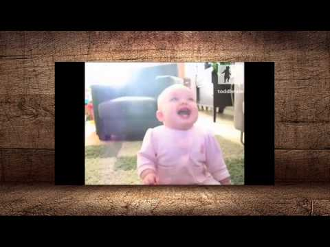 LOL Baby Girl Laughing Hysterically At Dog Eating Popcorn Laughing Babies Toddletale