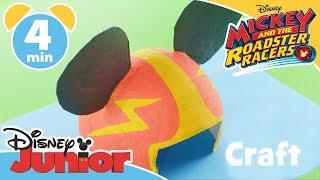 Art Attack | Mickey and the Roadster Racers Helmet Tutorial 🏎 Craft | Disney Junior UK