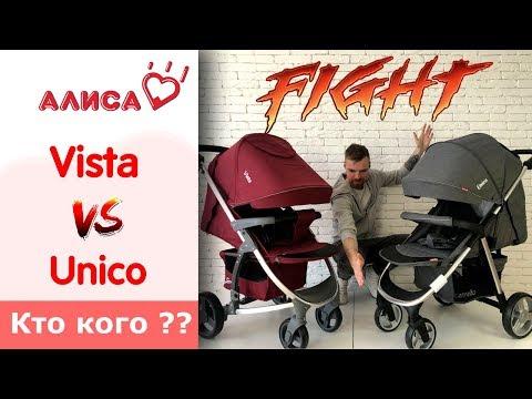 Carrello Vista VS Carrello Unico сравнение прогулочных колясок.