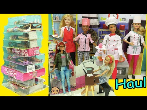 Giant Career Barbie Haul - Chef, Rock Star, Game Maker, Nurse + More Dolls