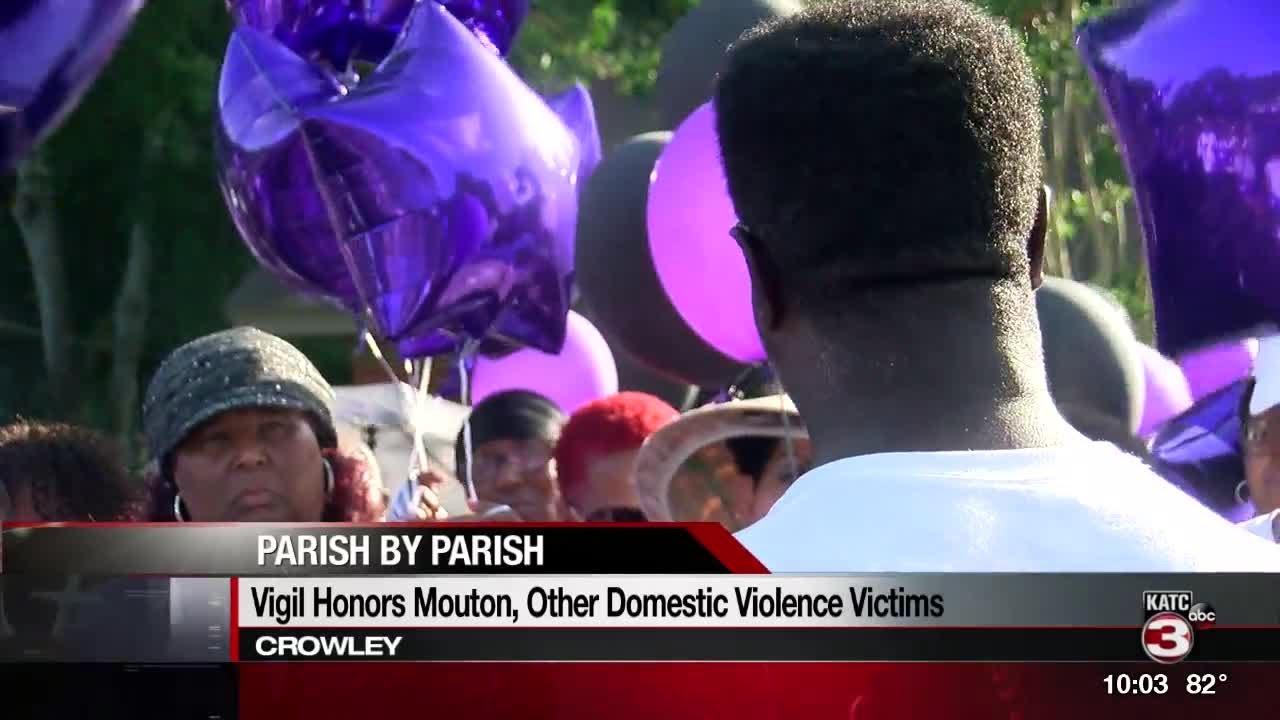 Vigil held for Crowley murder victim