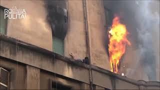 Incendio in via Niso