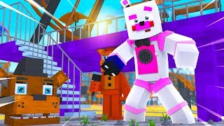 Exploring FNAF World Theme Park! Minecraft FNAF Roleplay