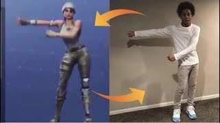 HOW TO DO FORTNITE DANCES - REAL LIFE CHALLENGE !!