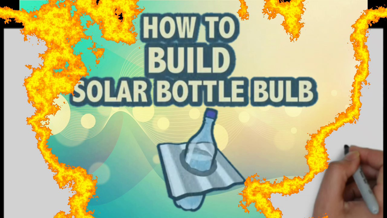 how to make solar bottle bulb work at night