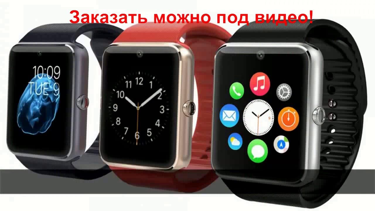 Часы smart watch phone gt08 видео