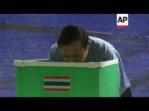 Thai PM votes in constitution referendum