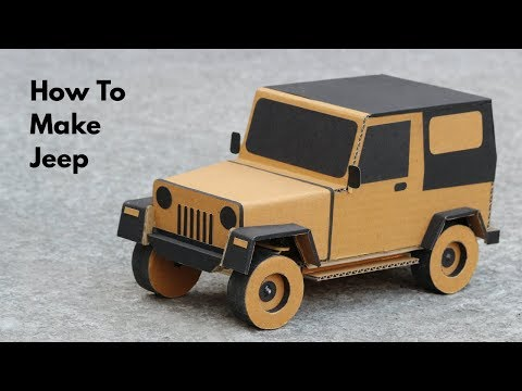How To Make RC Jeep From Cardboard || Very Simple (PART - 1)