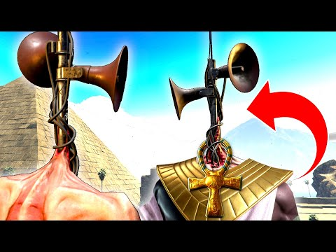 SIREN HEAD Goes BACK IN TIME And Becomes GOD?! (Time Travel In GTA!?) – GTA 5 Mods Funny Gameplay