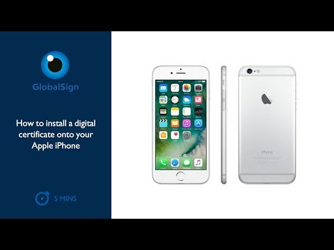 How to Install a Digital Certificate onto your Apple iPhone