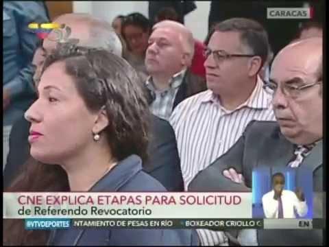 CNE anuncia lapsos para referendo revocatorio: Será en 2017, señala Tibisay Lucena