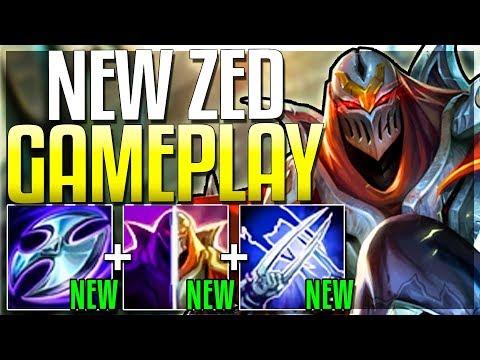 NEW ZED UPDATE IS HERE IS HE FINALLY OP?? Season 9 Zed Rework Gameplay - League of Legends