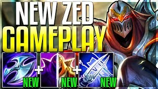 NEW ZED UPDATE IS HERE!! IS HE FINALLY OP?? Season 9 Zed Rework Gameplay - League of Legends