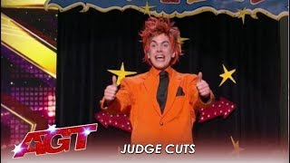 The Orange Magician: The Judges Are AMAZED With This Act  | America's Got Talent 2019
