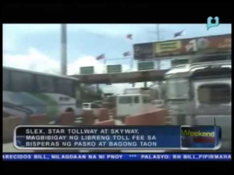 SLEX, Star Tollway at Skyway, magbibigay ng libreng toll fee sa bisperas ng Pasko at Bagong Taon