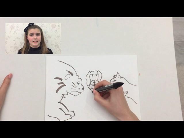 Изображение предпросмотра прочтения – АлександраВеличенкова читает произведение «Лев на ловле» И.А.Крылова