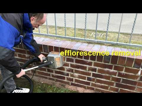 efflorescence removal on brick