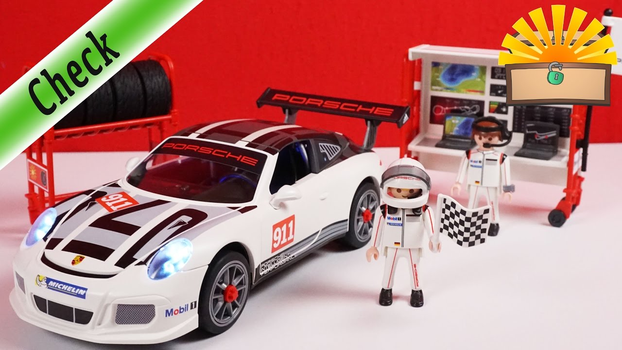 neuer porsche 911 gt3 cup f r die bergmanns playmobil 9225 film deutsch youtube. Black Bedroom Furniture Sets. Home Design Ideas