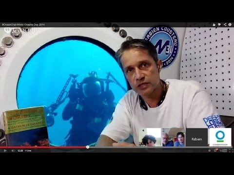 #OceanChat with Ian Somerhalder, Fabien Cousteau, and Greg Stone   World Oceans Day 2014