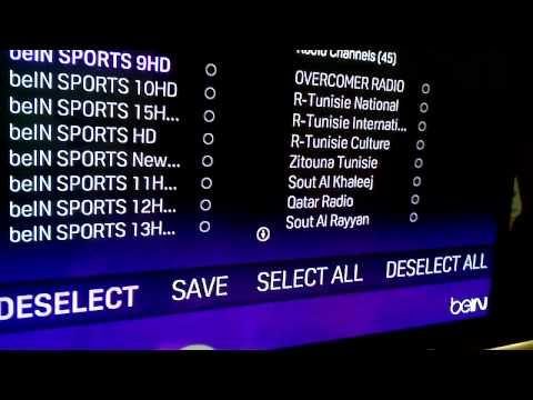 شرح جهاز بي ان سبورت - كيفية إضافة القنوات bein sport technicolor DSI722AJS