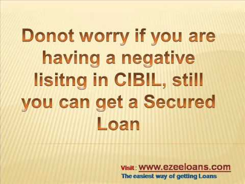 Loans for cibil negative, home loan for cibil default cases