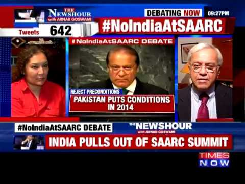 Times Now - India & Bangladesh Pulling Off From SAARC Summit (featuring Bharat Karnad)