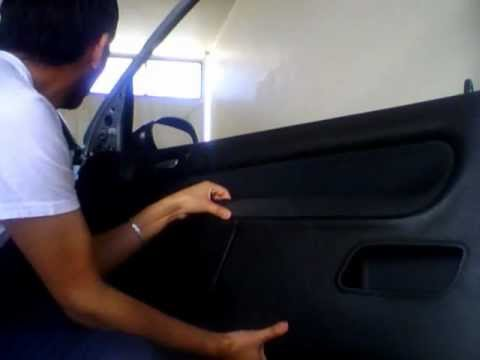 Quitar Panel Puerta Peugeot 206 Wmv Youtube