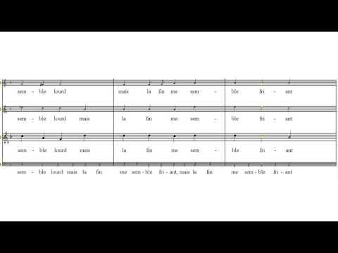 tenor -  Clément Janequin Il était une fillette tutorial - scrolling score