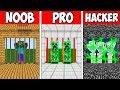 Minecraft NOOB vs PRO vs HACKER : SECURITY BLOCK DOORS in Minecraft | Animation