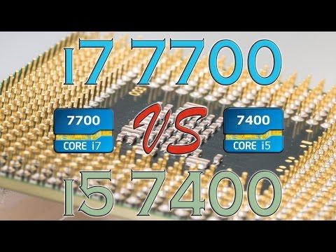 i7 7700 vs i5 7400 - BENCHMARKS / GAMING TESTS REVIEW AND COMPARISON / Kaby Lake vs Kaby Lake