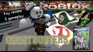 Ghostbusters Playmobil Stay Puft Toy Review & Roblox Ghostbusters Gaming