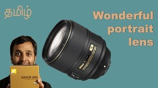 GREAT LENS FOR PORTRAITS | Nikon 105mm f/1.4 | Learn photography in Tamil